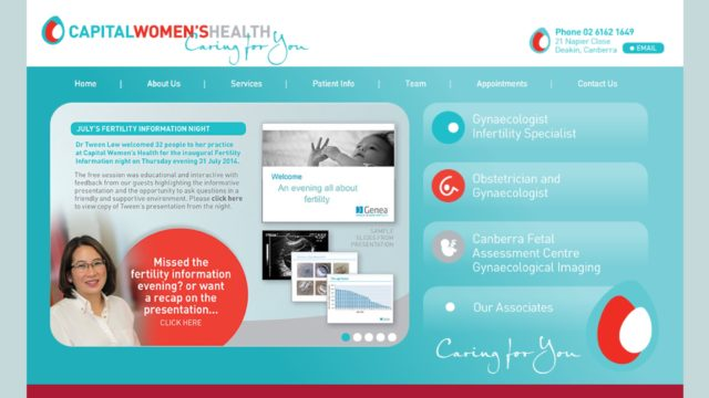 Capital Womens Health Website