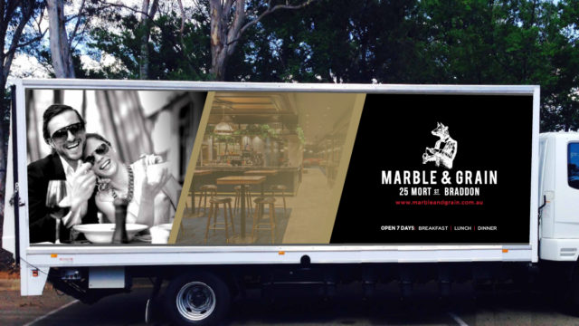 Marble & Grain Truck Sinage